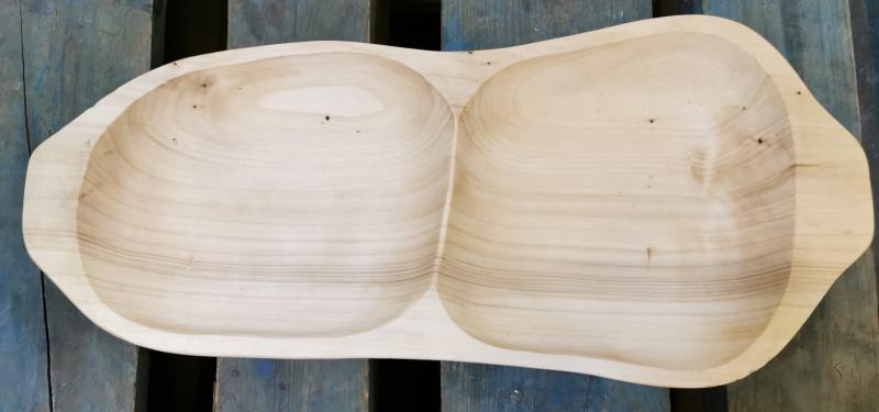 Fa 2 részes-osztott-kínálótál, 47 cm, 302090