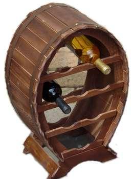 Fa bortartó, sötétbarna, kicsi, 8 palackos, 302023