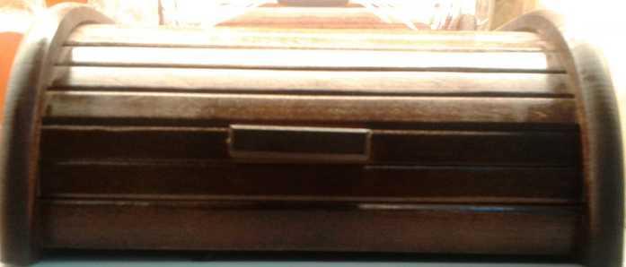 Fa kenyértartó, kicsi, sötétbarna, 302020