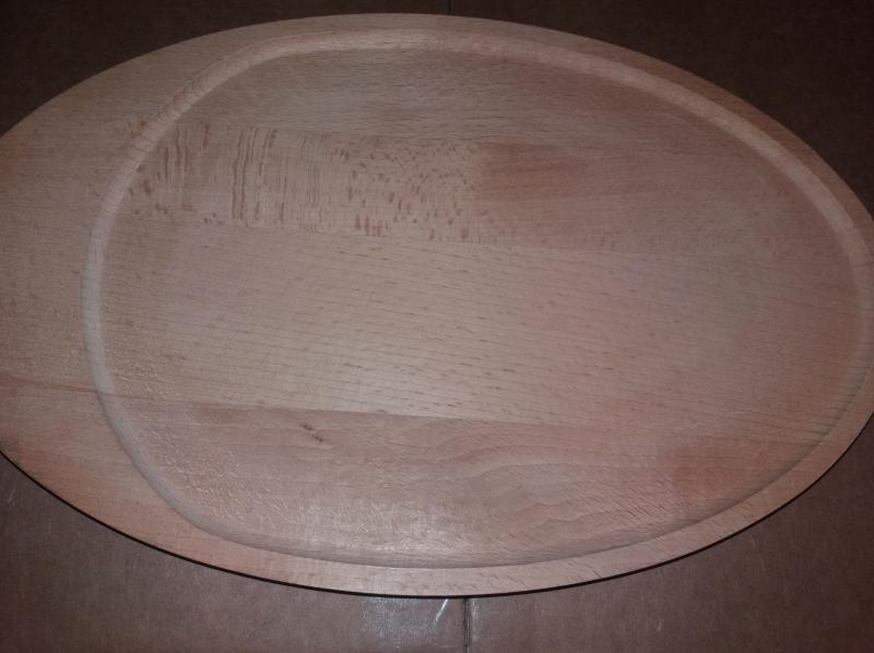 Fa ovál tányér, 30 cm, 302081