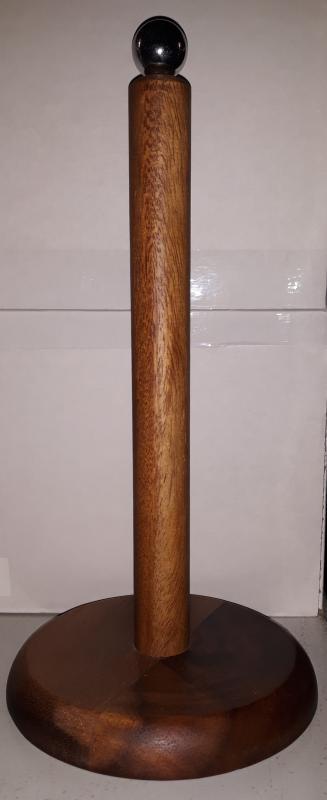 Fa papírtörlőtartó, sötétbarna, 210029