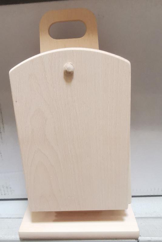 Fa szalonnázó készlet, álló, 6 db+állvány, 302057