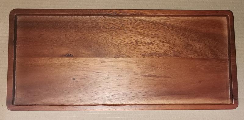 Fa tálca, sötétbarna, 18x40x2,5 cm