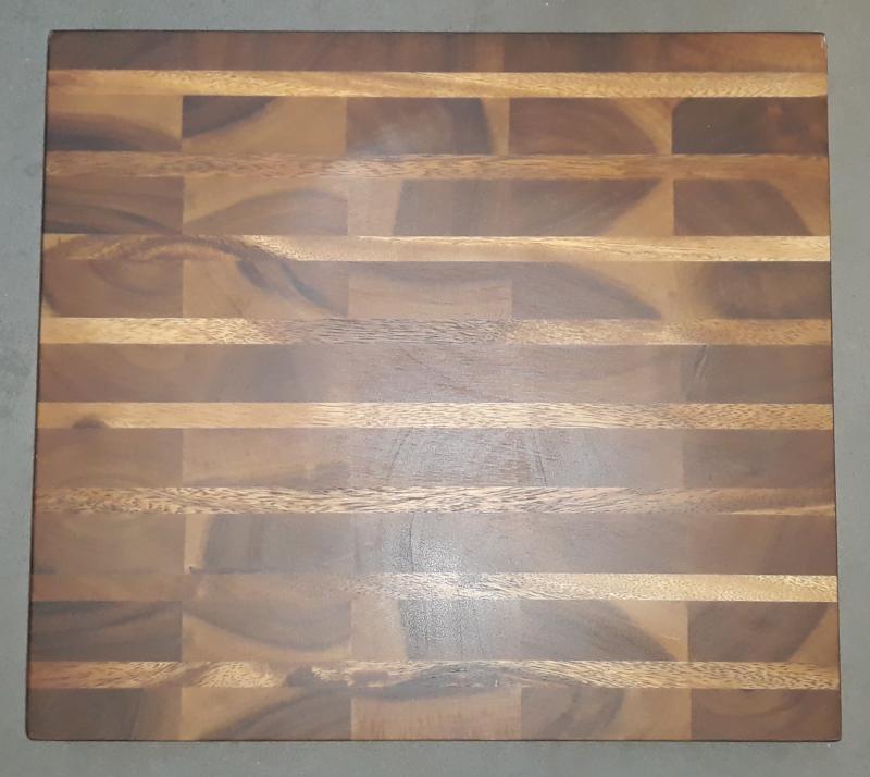 Fa tőkevágó blokk lábakkal, sötétbarna, 41X46X5 cm, 210093