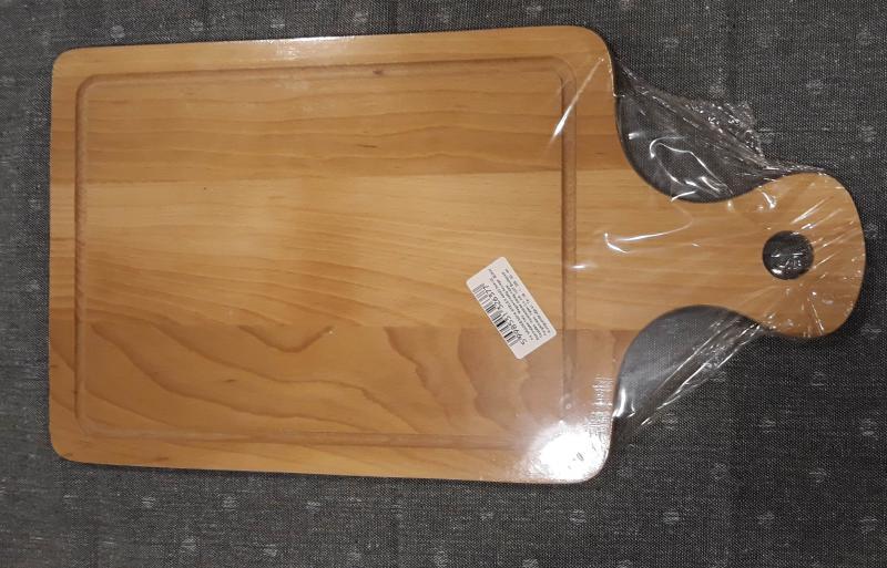 Fa vágódeszka, nyeles, 44X23,5X5 cm, 302082