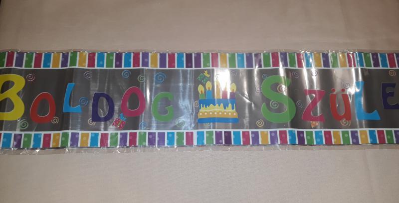 Fólia felirat (Boldog születésnapot), 3,6 m