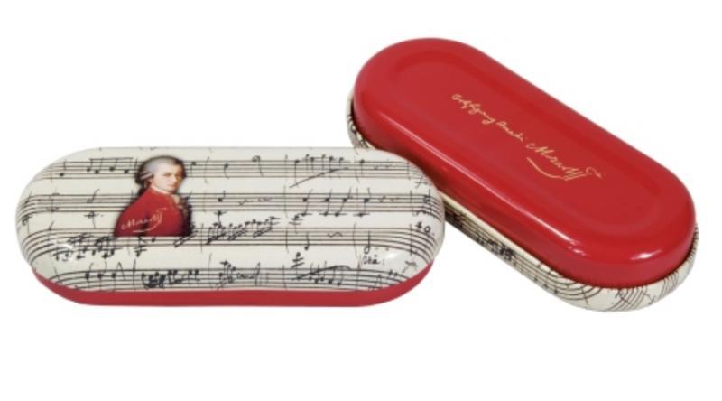 FRI.18771 Szemüvegtok fémdoboz, 16x2,8x5,5cm,Mozart