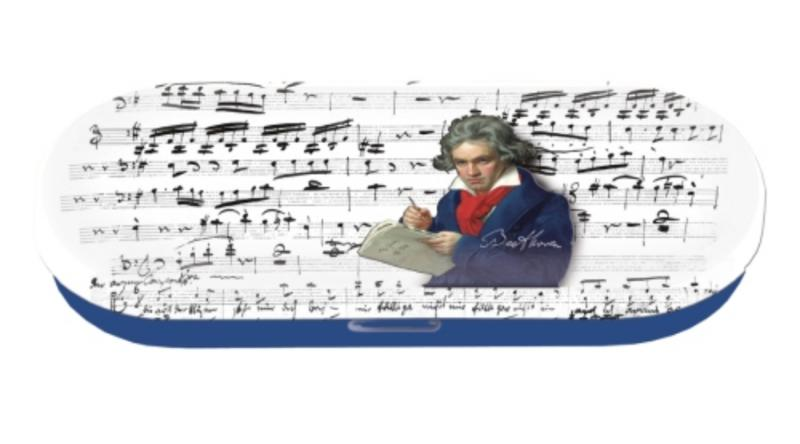 FRI.18776 Szemüvegtok fémdoboz, 16x2,8x5,5cm,Beethoven