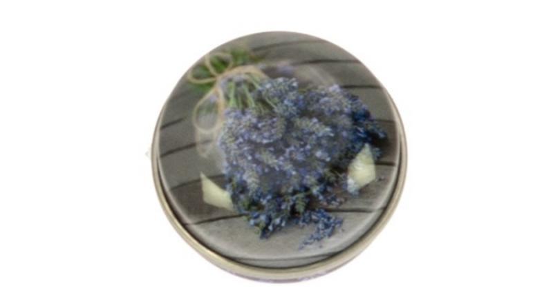GAW.0227/053 gyógyszeres fémdoboz 40,2x18,6mm Lavendel