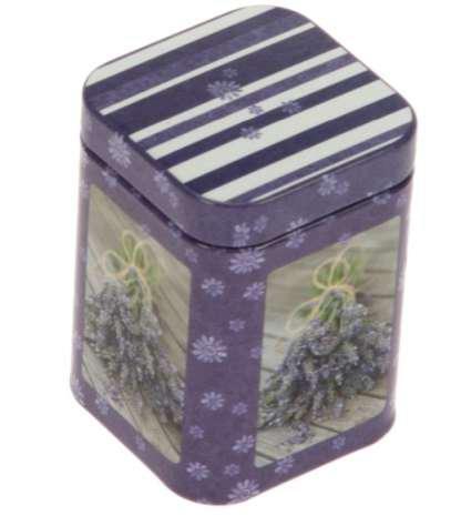GAWOL 7421/753 konyhai fémdoboz 43x43x60mm Lavendel