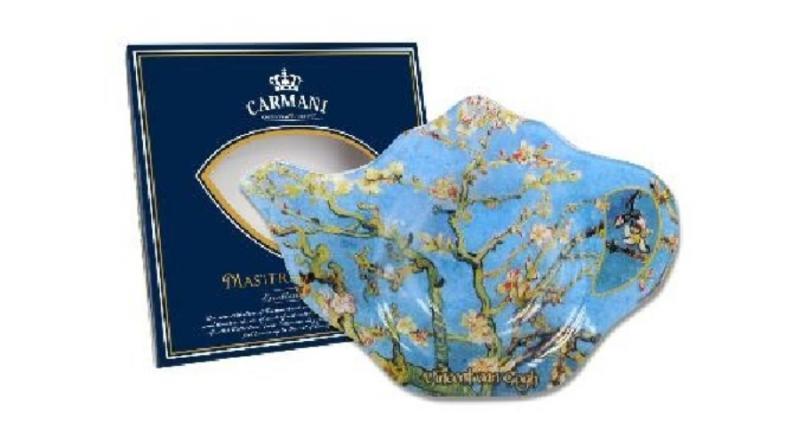 H.C.198-9308 Üveg teafiltertartó 14x9cm,Van Gogh:Mandulavirágzás