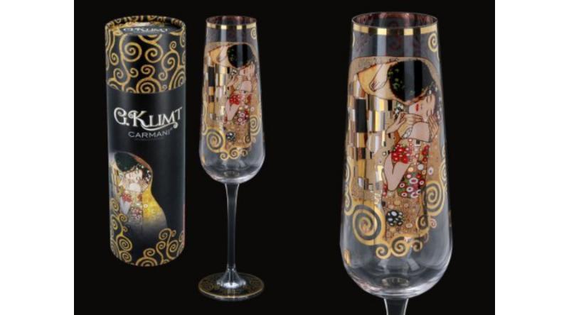 H.C.841-3721 Pezsgős üvegpohár 200ml,Klimt:The Kiss, 1db