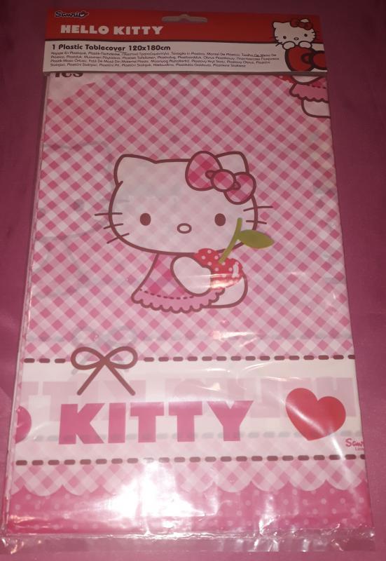 Hello Kitty Cherry műanyag asztalterítő, 120X180 cm