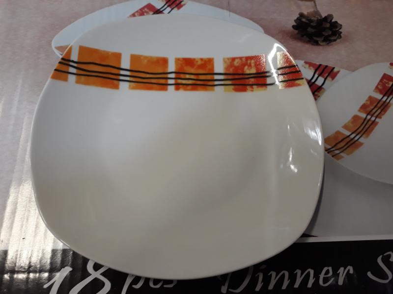 Homefavour szögletes narancsszínű 18 részes étkészlet, 247017