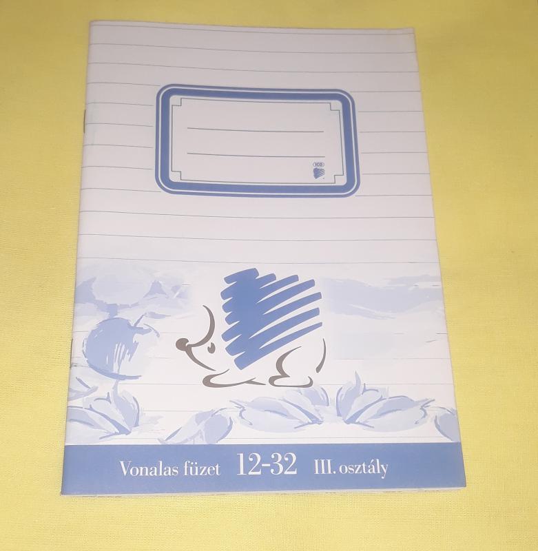 ICO kisalakú vonalas füzet, margós, 12-32 ( III.osztály), 32 lapos