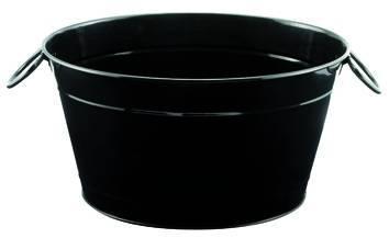 ILSA fekete pezsgősvödör, 40X28X22 cm, 126021