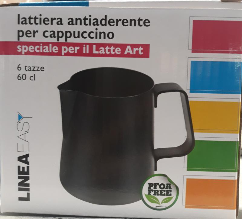 ILSA rozsdamentes-tapadásmentes tejkiöntő, fekete, 60 cl, 126062