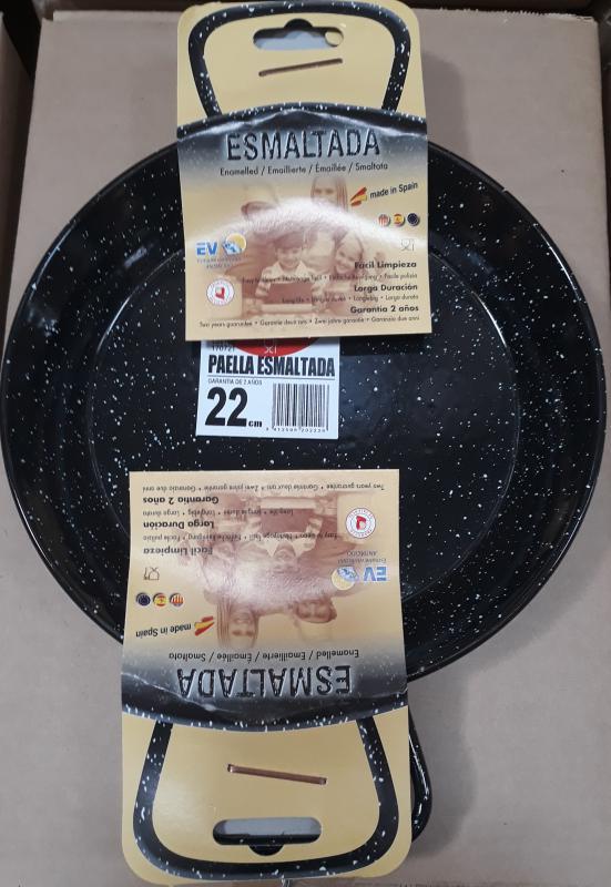 ILSA zománcozott fekete szeletsütő két füllel,  22 cm, 126027