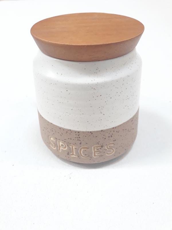 Kő kerámia fűszertartó tetővel, 9,5 cm, 25 cl