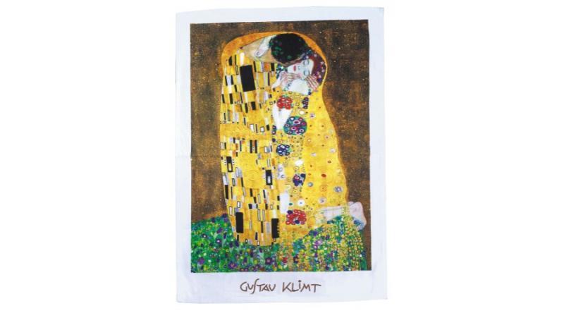 Konyharuha 45x65cm, Klimt:The Kiss, FRIDOLIN 12911 Pamut