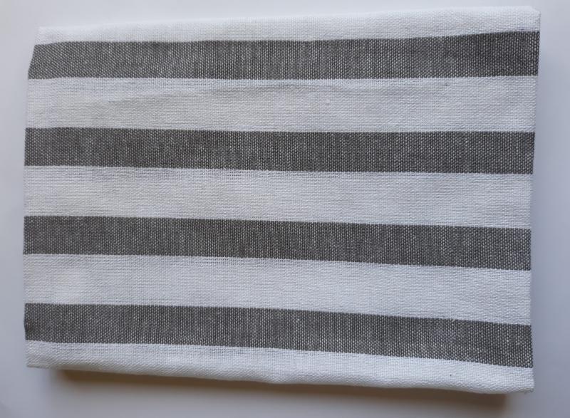Konyharuha, szürke fehér csíkos, 1db, P006