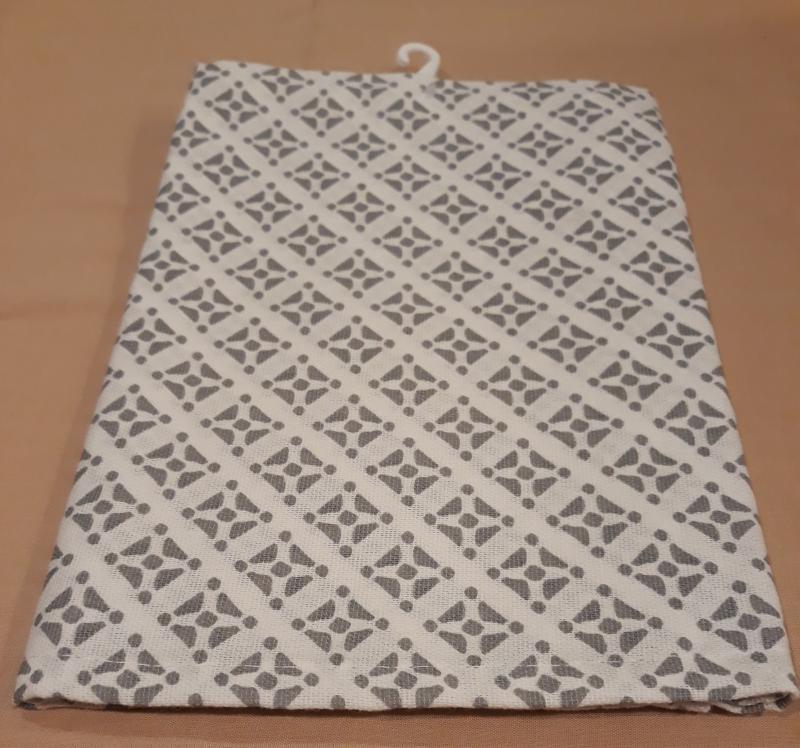 Konyharuha, szürke-fehér penta, 50X70 cm, P009