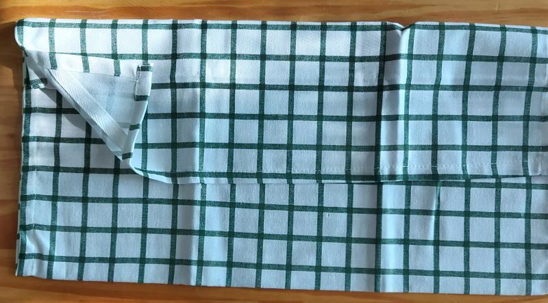 Konyharuha,, zöld kiskockás, 45X65 cm, 1 db, P044