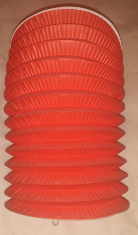 Lampion, narancssárga, oszlopos, 14,5 cm, 1 db