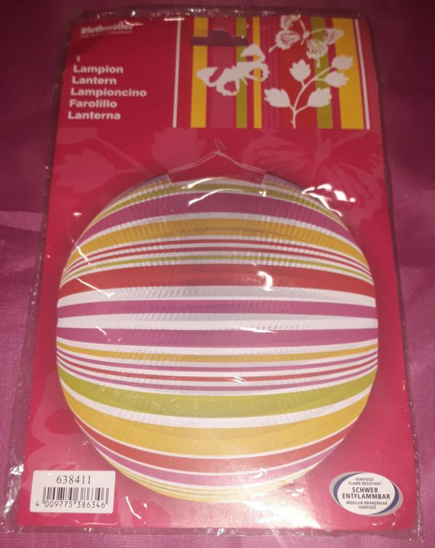 Lampion, színes, 25 cm, 1 db
