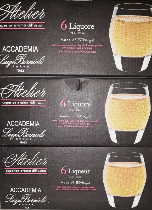 Luigi Bormioli Atelier likőrös pohár, 7,5 cl, 6 db, 198255