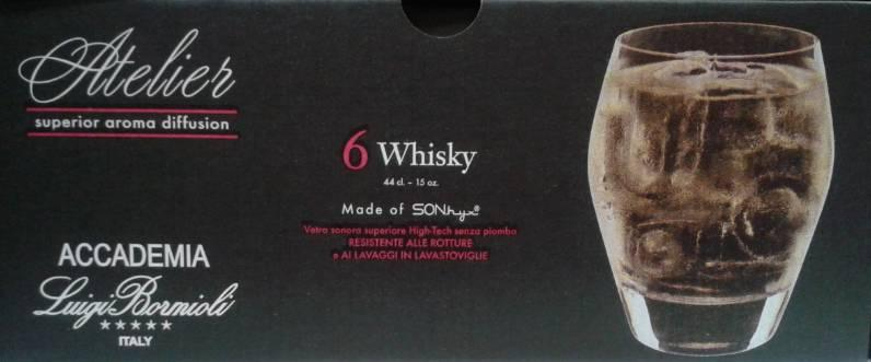 Luigi Bormioli ATELIER whiskys pohár, 44 cl, 6 db, 198170