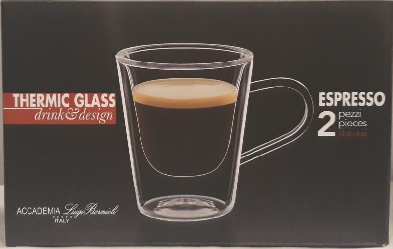 Luigi Bormioli Duos duplafalú Espresso, 2 db, 12 cl, 198011