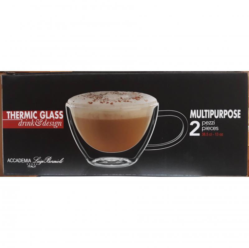 LUIGI BORMIOLI DUOS duplafalú teás-cappuccinos csésze, 2 db, 38,5 cl, 198104