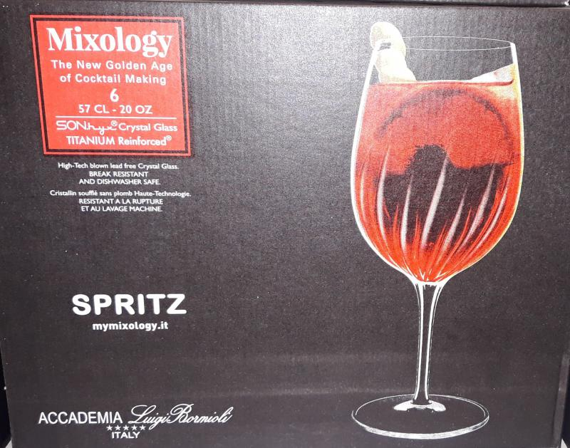 Luigi Bormioli Mixology Aperol Spritz talpas kehely készlet, 57 cl, 6 db, 198901