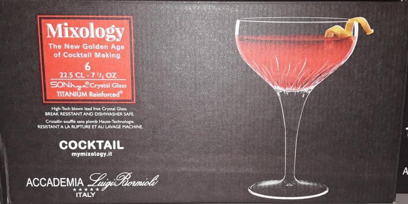 Luigi Bormioli Mixology Cocktail talpas kehely készlet, 22,5 cl, 6 db, 198891