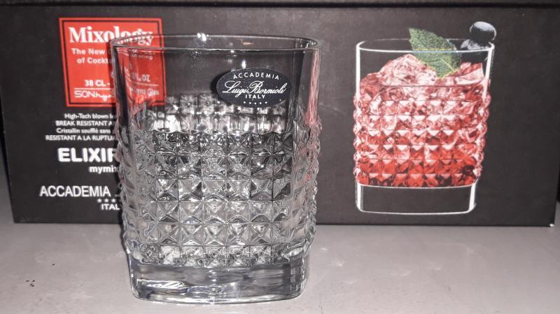 Luigi Bormioli Mixology Elixir whiskys pohár készlet, 38 cl, 6 db, 198899