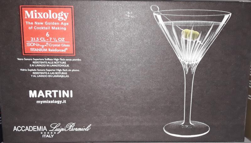 Luigi Bormioli Mixology Martini talpas kehely készlet, 21,5 cl, 6 db, 198892