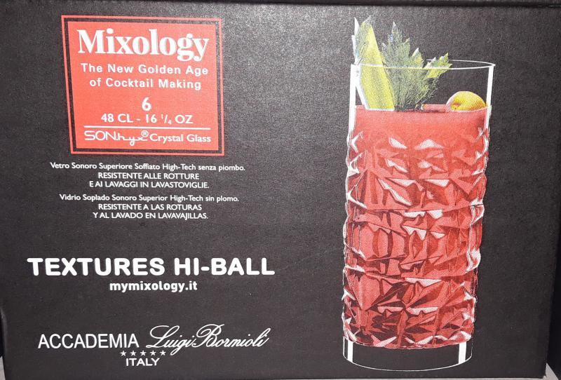 Luigi Bormioli Mixology Textures üdítős pohár készlet, 48 cl, 6 db, 198897