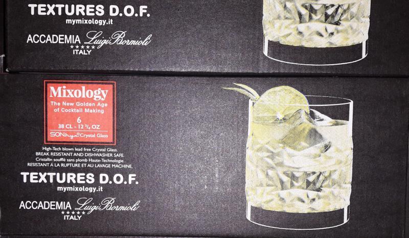 Luigi Bormioli Mixology Textures whiskys pohár készlet, 38 cl, 6 db, 198894