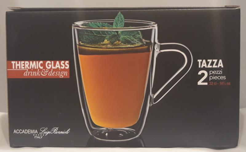 LUIGI BORMIOLI, THERMIC GLASS bögre, TAZZA, 2 db, 32 cl, 198172