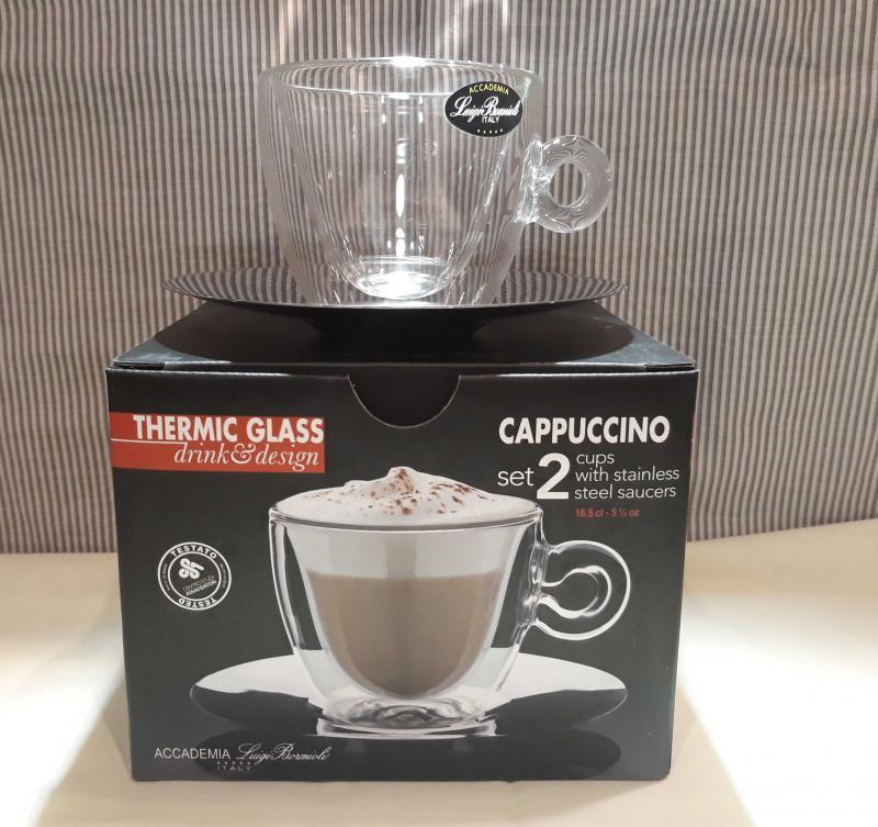 Luigi Bormioli Thermic Glass Cappuccino szett, 16,5 cl, 2 db, 198152