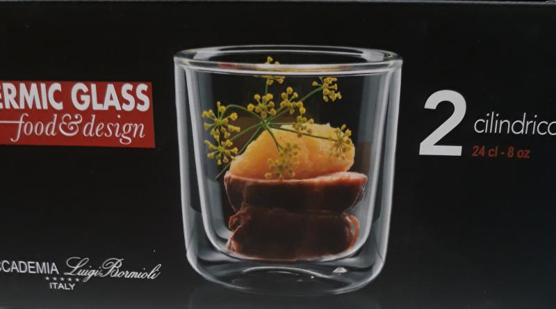 Luigi Bormioli Thermic Glass 'Cilindrica' pohár, 24 cl, 2 db, 198195