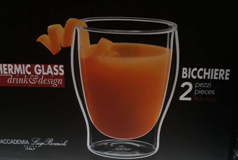 Luigi Bormioli Thermic Glass Duos duplafalú hőálló pohár, 35 cl, 2 db, 198150