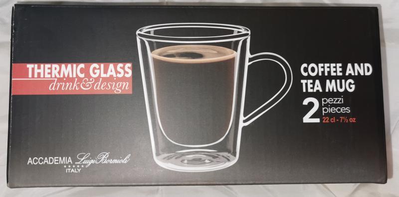 Luigi Bormioli Thermic Glass duplafalú kávés-teás bögre, 22 cl, 2 db