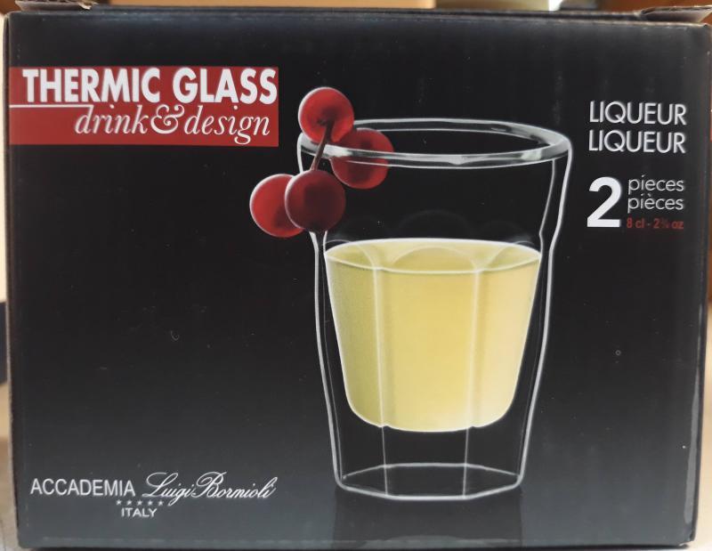 Luigi Bormioli Thermic Glass Liqueur pohár, 8 cl, 2 db, 198232