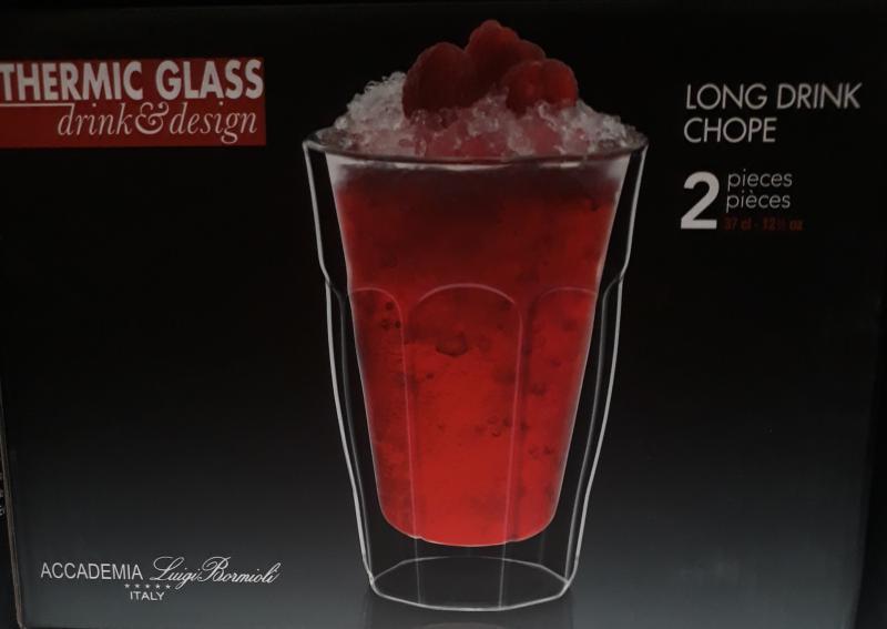 Luigi Bormioli Thermic Glass Long Drink pohár, 37 cl, 2 db, 198017