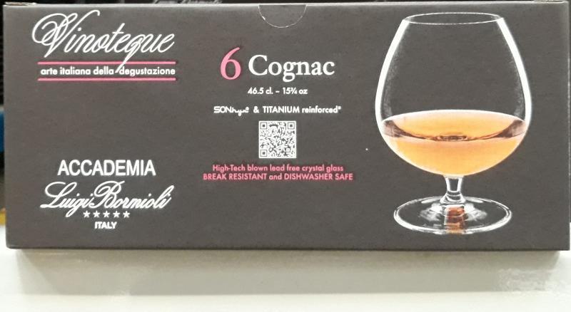 LUIGI BORMIOLI VINOTEQUE COGNAC, konyakos pohár, 46,5 cl, 6 db, 198189
