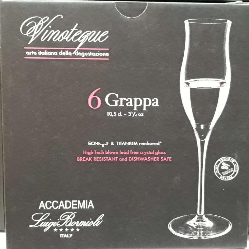 LUIGI BORMIOLI VINOTEQUE GRAPPA pohár, 10,5 cl, 6 db, 198122