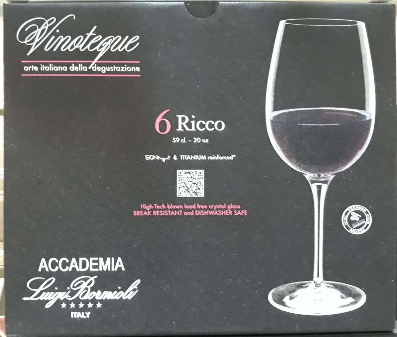 LUIGI BORMIOLI VINOTEQUE RICCO vörösboros, 59 cl, 6 db, 198127