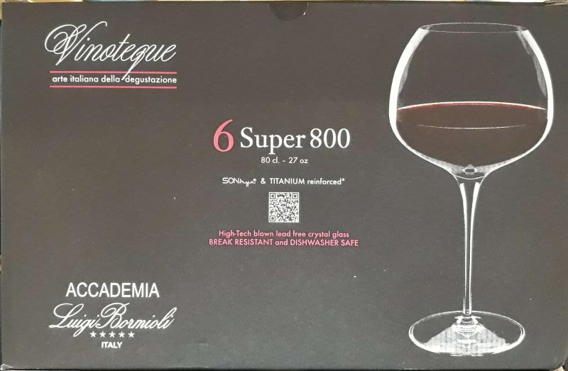 LUIGI BORMIOLI VINOTEQUE SUPER 800 vörösboros pohár, 80 cl, 6 db, 198145